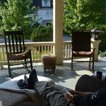 Wonderfully inviting porch