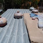 Drying the pottery