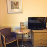 Double Room - Table & TV Area