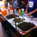 Couldn't quite bring myself to try the fried insects.......