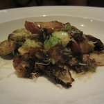 warm brussel sprouts