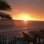 Sunset on Kona from KSM 303's balcony.