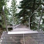 Sturdy aluminum walkway to dock and river