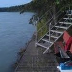 Fishing dock and Kenai River