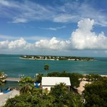 view of sunset key from top of shipwreck museum