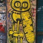 Graffitti in shop doorway off Schlesisches Strasse, Kreuzberg