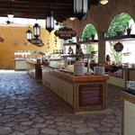Main buffet area