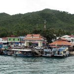 The arrival pier in Koh Tao. The ferry comes from Chumpon and takes about 90 minutes.