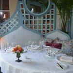 The terrace of the tea room