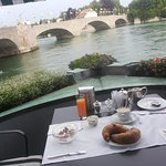 Breakfast table and view