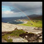 Northernmost point in Ireland caught us with a drizzling surprise: Ireland, country of rainbows!