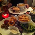 Sirloin steak - near, Beefburger far
