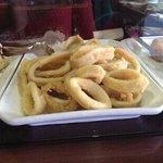 bocadito de tortilla, calamares, croquetas