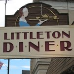 Sign for the Littleton Diner