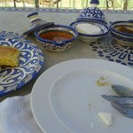 Breakfast on the terrace - fig jam and moroccan breads