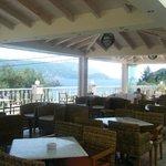 The Hotels veranda area