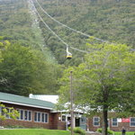 The Tramway going to the top of Cannon Mountain