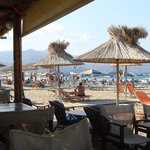The beach from the Taverna
