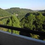 Blick vom Appartementbalkon auf den See App. 810