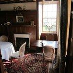 wood panelled breakfast / dining room
