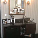 Room 357 Wet Bar with Microwave, Refrigerator and Keurig Coffee Maker