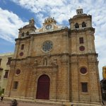 San Pedro Claver church from the street.  one block from hotel