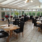 The orangery Restaurant at Ash House Hotel