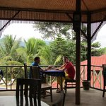 breakfast in the open air restaurant with great views