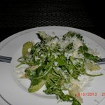 wild arugula + celery salad