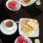 The rooftop breakfast