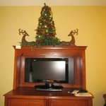 TV with DVD Player and Christmas Tree, Room #418