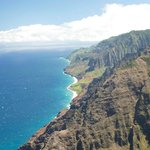 Napali Coast fromthe air