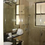 The bathroom with a wonderful shower!