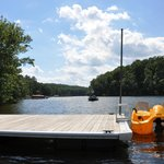 Take the paddleboat out and lounge on the lake.