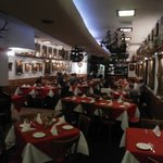 The dining room of the Old Europe restaurant