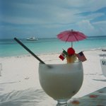 Had a pina colada on the beach served from the restaurant a few fee away