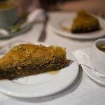 Tasty Traditional Greek Baklavas and greek coffee!!! wow!!!!