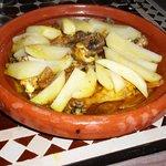 Tagine poulet citron confit-safran (hum!)