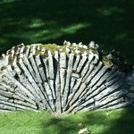 Mushroom Houses Charlevoix-Signature stone fence structure of Earl Young