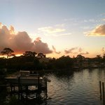 Sunrise from our view - water front resort