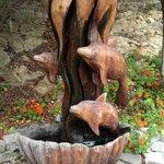 Sculpture in  Courtyard