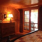 Master bedroom with porch, Firefly Cottage