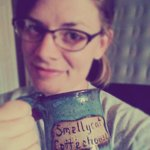 My souvenir Smellycat coffee mug.
