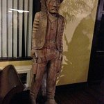 Tex Standing Guard in the Lobby