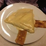crepe with chicken and cheese (so simple :( )