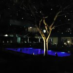 Poolside at night