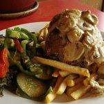 Medium Rare Rump Steak (Mushroom Sauce)