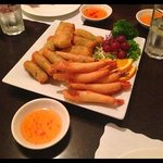 Spring Rolls, Golden Crispys and Crispy Prawns