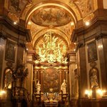 The wonderful Baroque interior of St Francis of Assisi Church