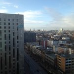 Looking out from the 16th Floor @ Suites Novotel Hamburg